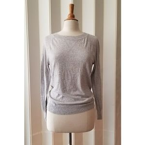 Relatively | Gray Speckled Crew Neck Sweater
